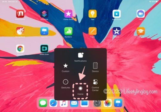 iPad Proのホームボタンでアプリケーションの終了をする画面