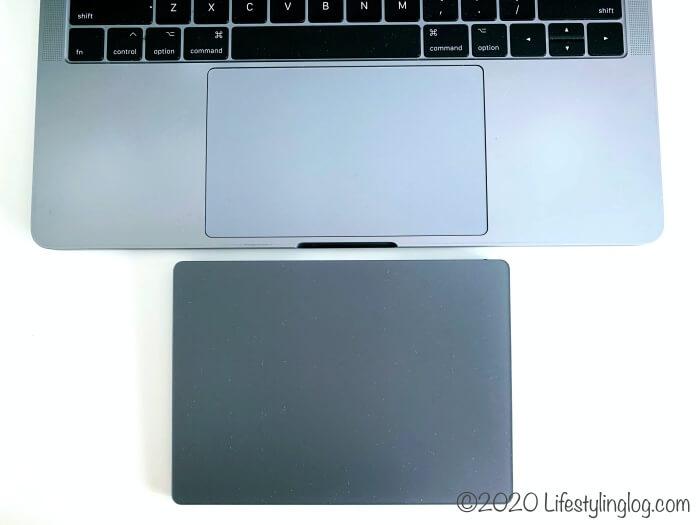 MacBook ProのトラックパッドとMagic Trackpad 2の比較
