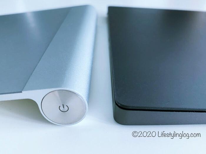 電池が必要な初代Magic Trackpadと充電式になったMagic Trackpad 2