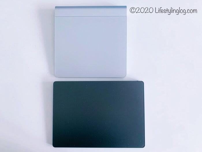 表面が30%広くなったMagic Trackpad 2と初代Magic Trackpadの比較
