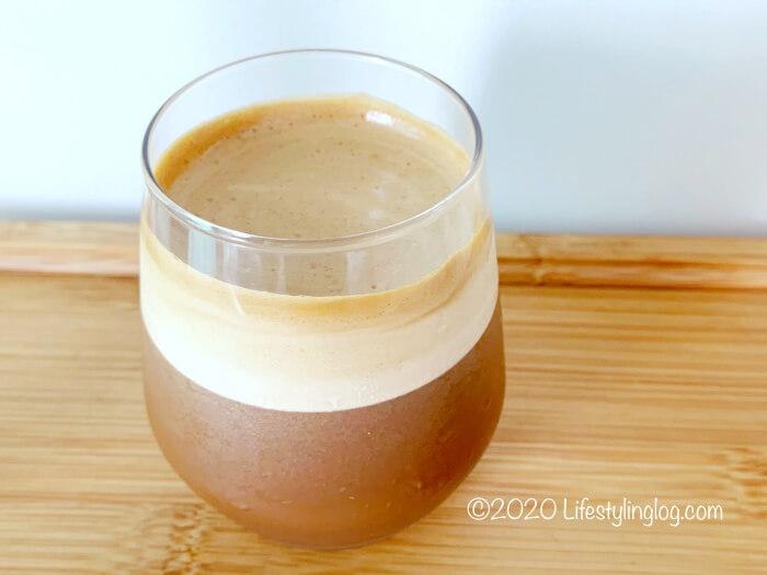 ダルゴナコーヒーホイップとミロを混ぜたところ