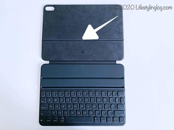 Smart Keyboard Folio(スマートキーボードフォリオ)のiPad Proをのせる部分
