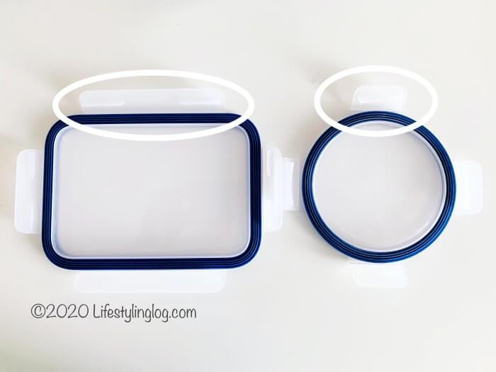 IKEA 365+の長方形と丸型のプラスチックふた