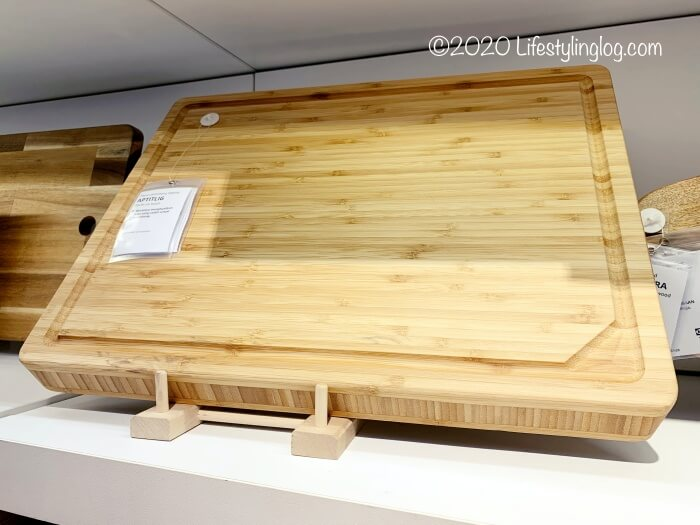 IKEAの竹製APTITLIG(アプティートリグ)の溝ありまな板