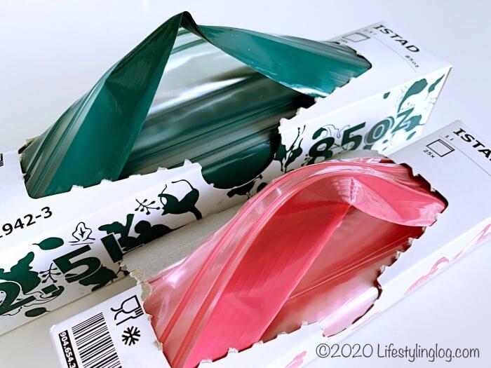 サトウキビ由来のバイオプラスチックを利用したIKEAのISTAD(イースタタード)フリーザーバッグ