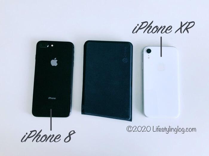 iClever 折りたたみ式BluetoothキーボードIC-BK06とiPhoneの大きさ比較