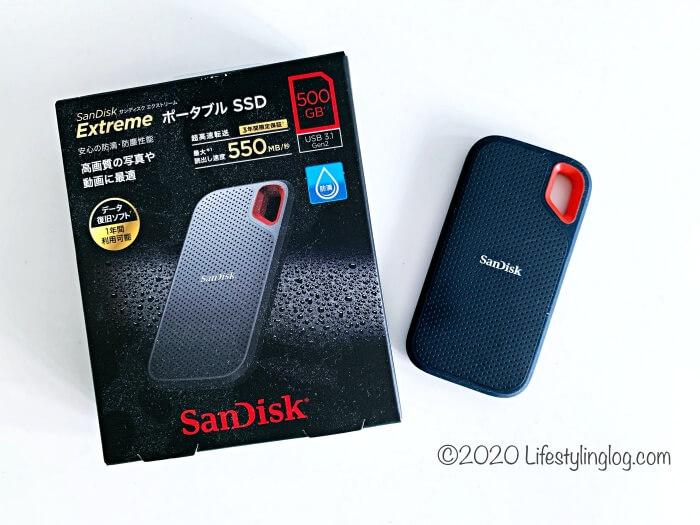 500GBのSanDisk(サンディスク)エクストリームポータブルSSD