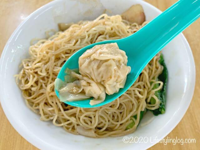 龍師傅港式竹昇麵家(Loong Sifu Bamboo Noodle House)の雲呑(ワンタン)