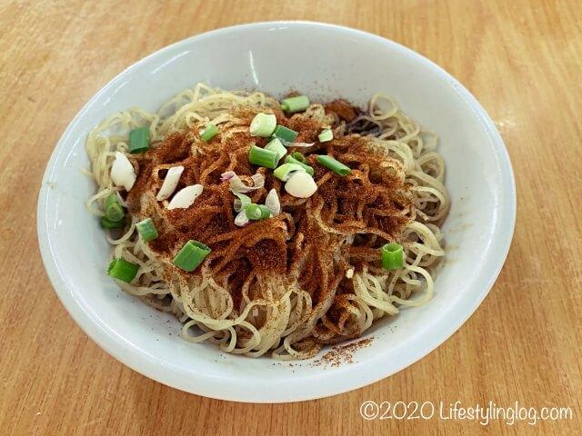 クアラルンプールにある龍師傅港式竹昇麵家(Loong Sifu Bamboo Noodle House)の香港蝦子麵