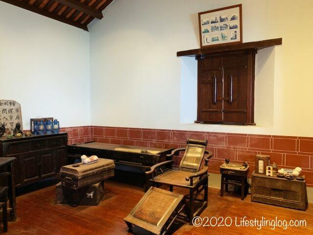 世徳堂謝公司(Seh Tek Tong Cheah Kongsi)の休息室
