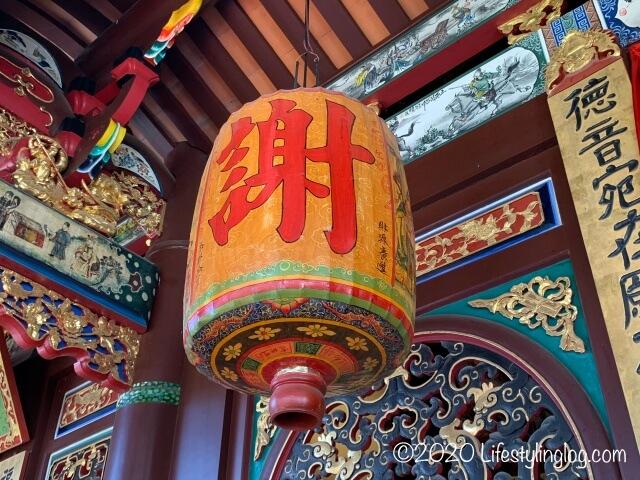 世徳堂謝公司(Seh Tek Tong Cheah Kongsi)にある謝の提灯