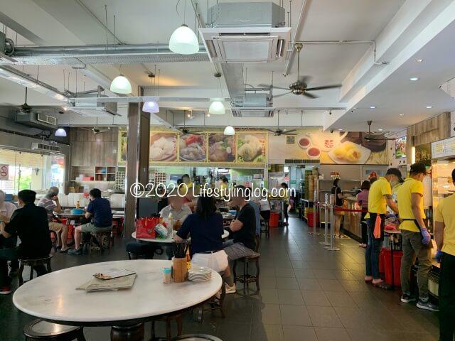富興點心(Restoran Foo Hing Dim Sum House)の店内