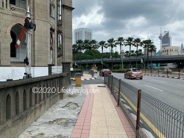 Malayan Railway Administration Building前にある道