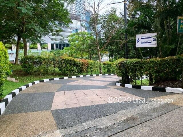 マレーシア国立博物館からボタニカルガーデンに続く道
