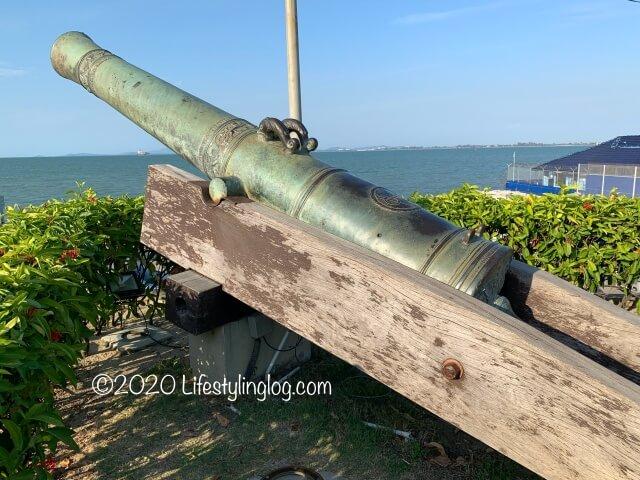 コーンウォリス要塞(Fort Cornwallis)にある大砲