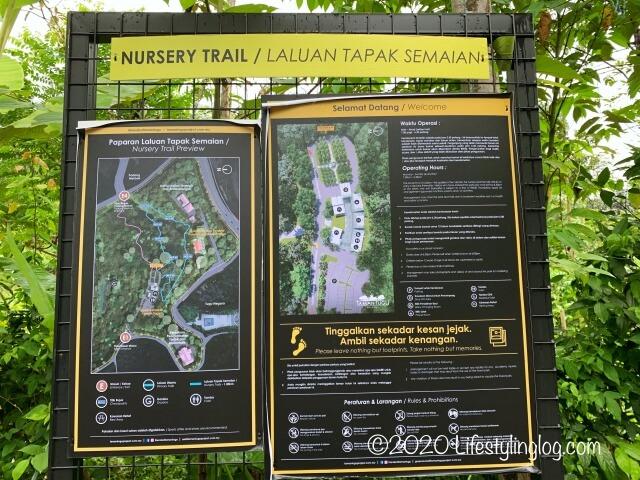 Taman TuguのNursery Trailsの地図