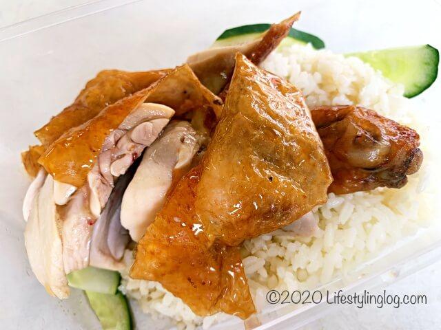 王美記(Wong Mei Kee)の燒肉(Siew Yoke)の海南チキンライス