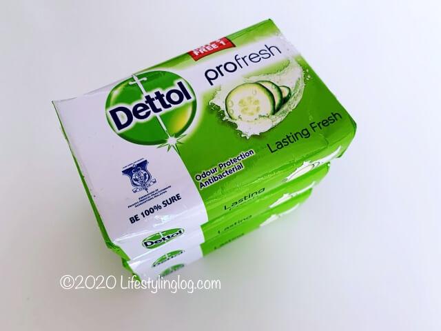 きゅうりの抽出液を使ったDettolの石鹸