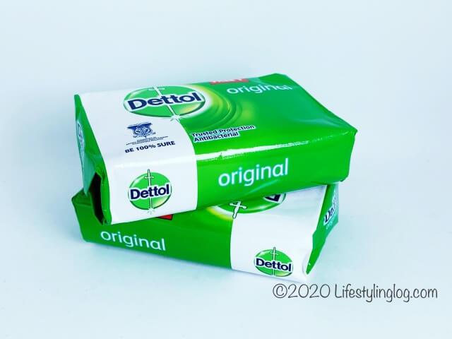 Dettolのオリジナル石鹸のパッケージ