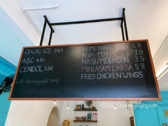 Kwong Wah Ice Kacangの新店舗のメニュー