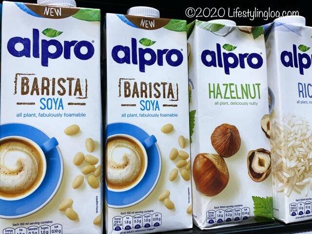 alproの豆乳やヘーゼルナッツミルク