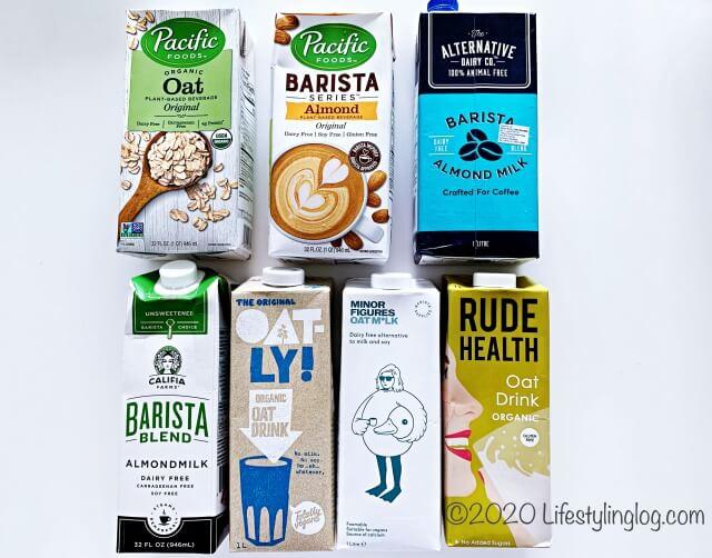 植物性ミルク商品(アーモンドミルク&オーツミルク)