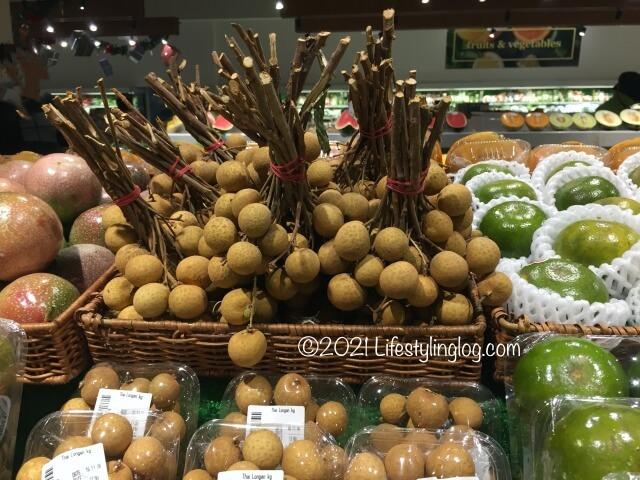 マレーシアのスーパーで販売されている龍眼(ロンガン)