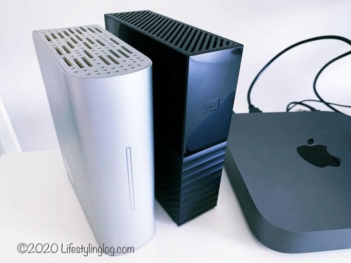 MacMiniに接続して使っている外付けHDD