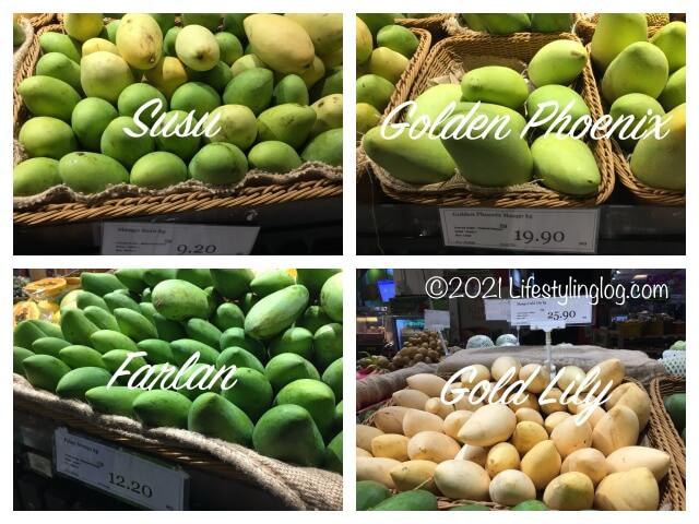 マレーシアのスーパーで販売されているマンゴーと値段