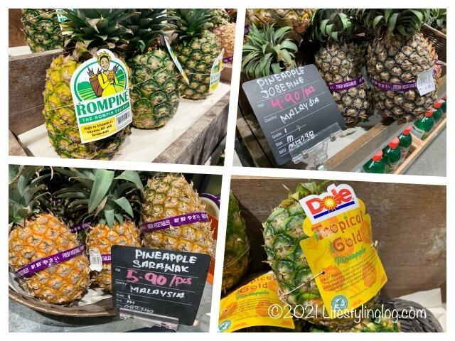 マレーシアで販売されているパイナップル