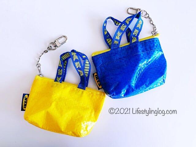 イエローとブルーカラーのIKEA(イケア)KNÖLIG(クノーリグ)のバッグ
