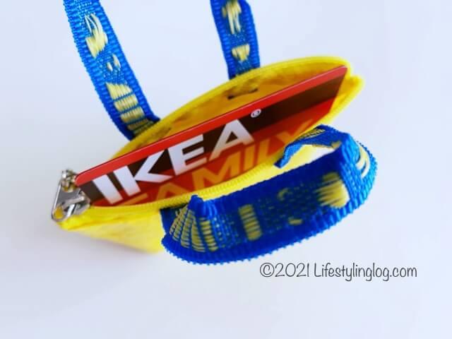 カードが入る大きさのIKEA(イケア)KNÖLIG(クノーリグ)のバッグ
