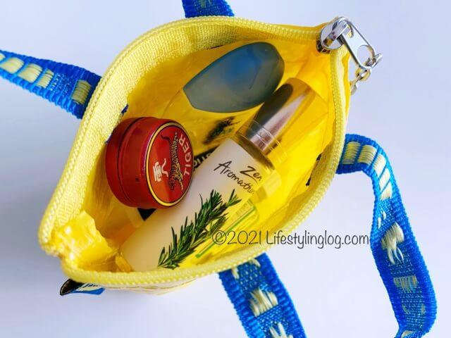 小物が入れやすいIKEA(イケア)KNÖLIG(クノーリグ)のバッグ