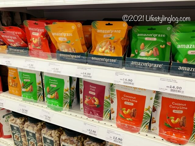 Qra@The Storiesで販売されているamazin' grazeのナッツ商品