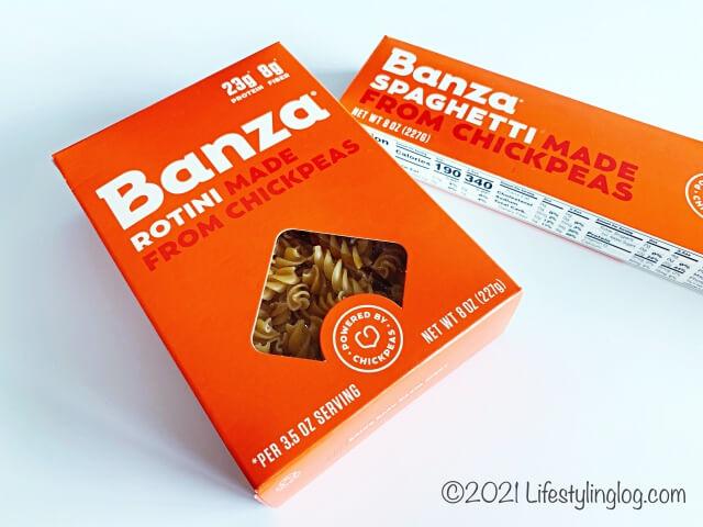 ひよこ豆で作られたBanzaのパスタ商品
