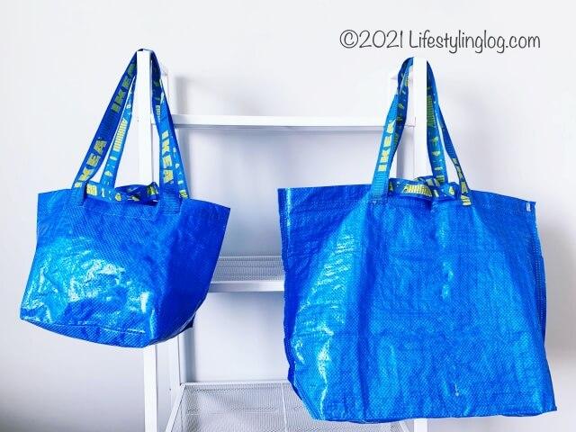 IKEAの青バッグ、BRATTBY(ブラットビー)とFRAKTA(フラクタ)のブルーバッグ比較