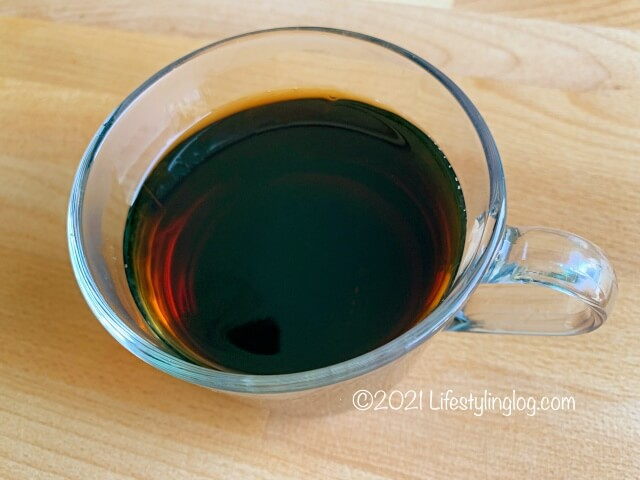 IKEAのコーヒー豆で淹れたブラックコーヒー