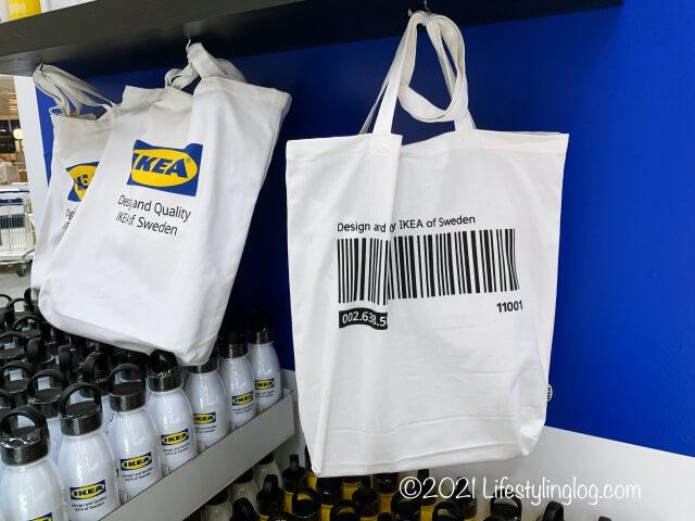 IKEA(イケア)EFTERTRÄDA(エフテルトレーダ)トートバッグのバーコードデザイン