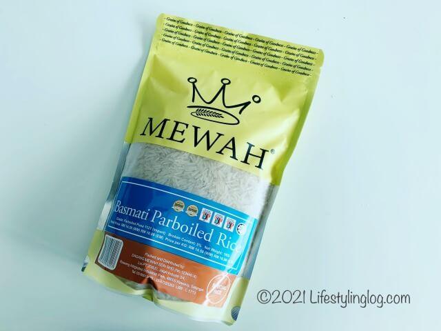 MEWAHのパーボイルドバスマティライス