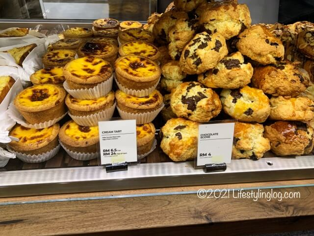 Croisserie Artisan Bakery @ Damansara Heightsのクリームタルトやチョコレートスコーン