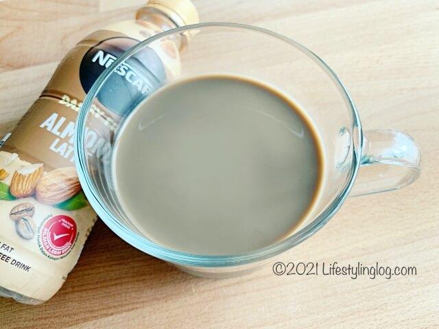 乳製品不使用のネスカフェアーモンドラテ