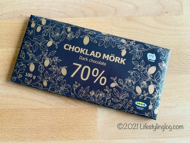IKEA(イケア)CHOKLAD MÖRK(ショクラード・ムルク)のカカオ70%ダークチョコレート