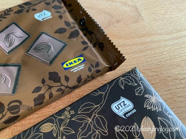 UTZ認証のIKEA(イケア)CHOKLAD MÖRK(ショクラード・ムルク)のチョコレート
