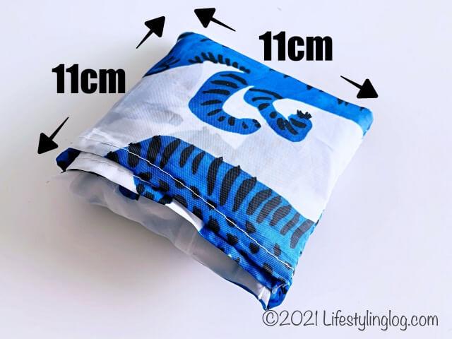 折りたたんだ時のイケア・スキンケのサイズ(寸法)