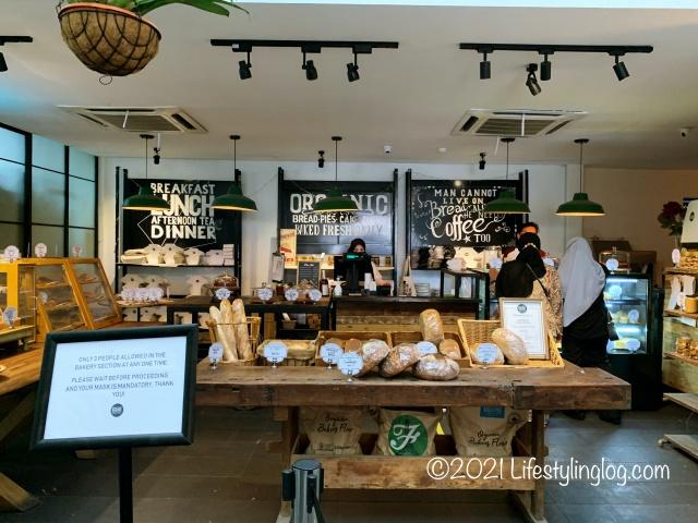 AmpangにあるKenny Hills Bakersの店内