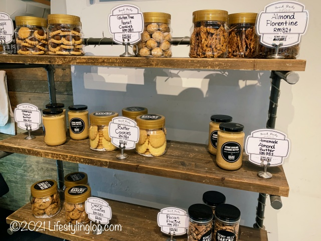 AmpangにあるKenny Hills Bakersで販売されているピーナッツバターやクッキー