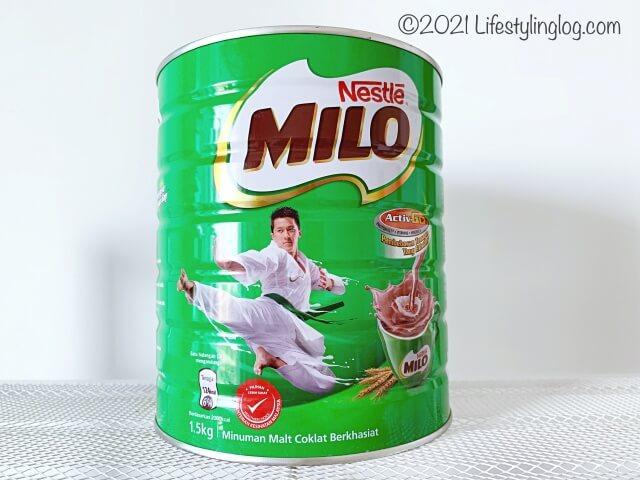 マレーシアで販売されている缶入りのミロ