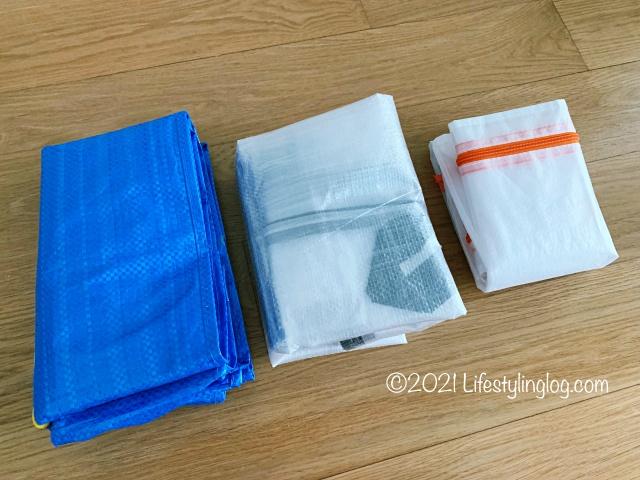 IKEA(イケア)のFrakta(フラクタ)・DIMPA(ディムパ)・PARKLA(ペルクラ)の折りたたみ比較
