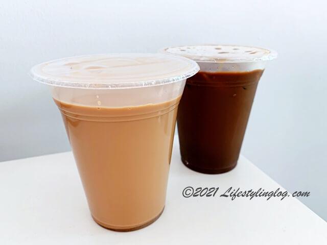 シールドパックになった阿榮哥海南茶(Ah Weng Koh Hainan Tea )のドリンク