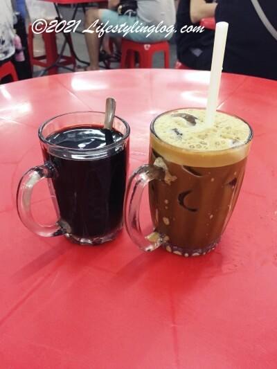 阿榮哥海南茶(Ah Weng Koh Hainan Tea )のコーヒーとアイス海南茶